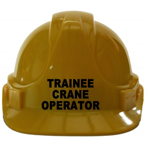 Trainee Crane Operator Childrens Hard Hat Safety Helmet