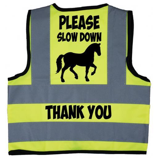 Please Slow Down Thank You Baby Children's Kids Hi Vis Safety Jacket