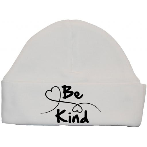 Be Kind Heart Baby Beanie Hat, Cap 0-12m