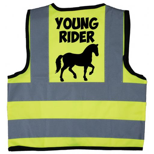 Young Rider Baby Children's Kids Hi Vis Safety Jacket