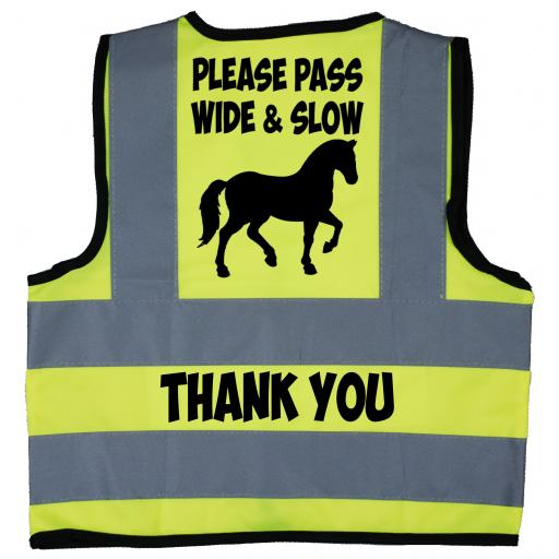 Please Pass Wide & Slow Thank You Baby Children's Kids Hi Vis Safety Jacket