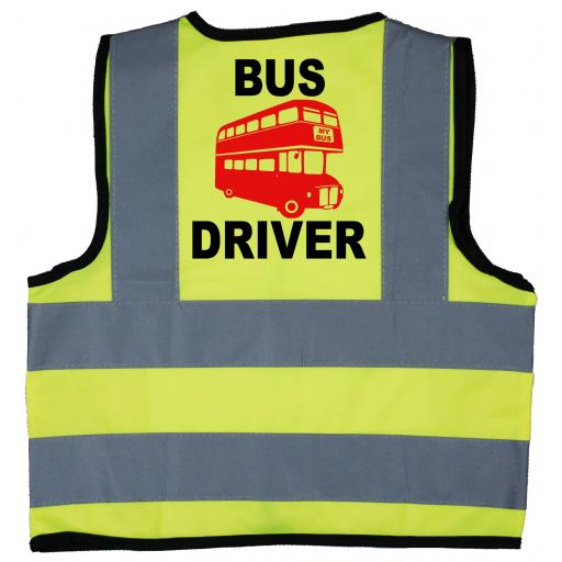 Bus Driver Baby Children's Kids Hi Vis Safety Jacket