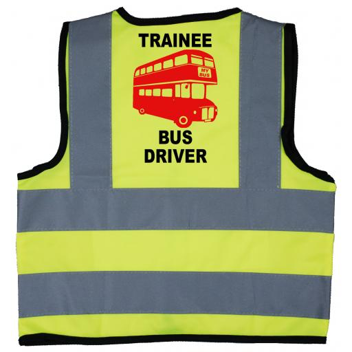 Trainee Bus Driver Baby Children's Kids Hi Vis Safety Jacket