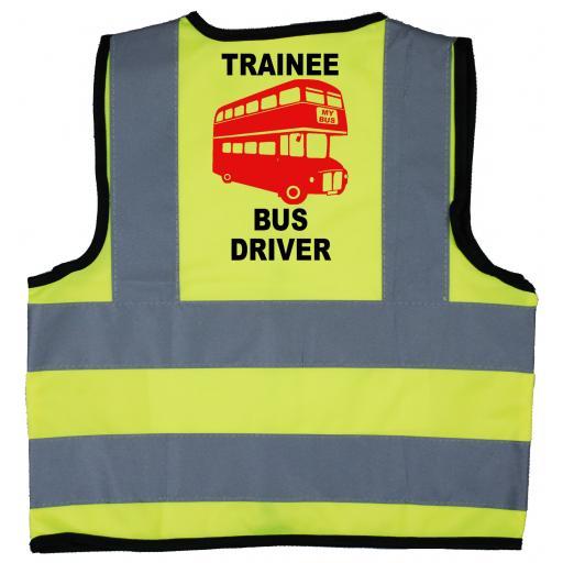 Trainee Bus Driver Baby Children's Kids Hi Vis Safety Jacket