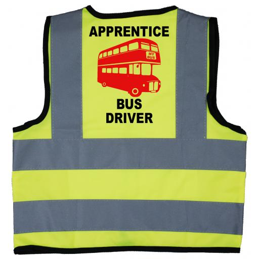 Apprentice Bus Driver Baby Children's Kids Hi Vis Safety Jacket