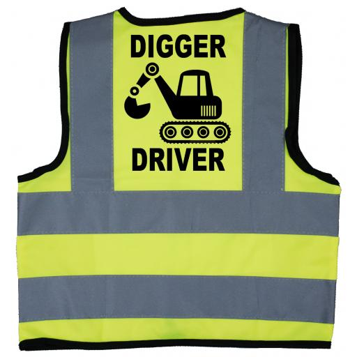 Digger Driver Hi Visibility Children's Kids Safety Jacket