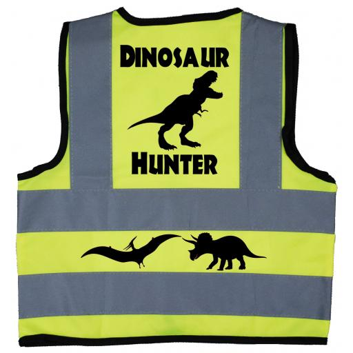Dinosaur Hunter Baby Children's Kids Hi Vis Safety Jacket